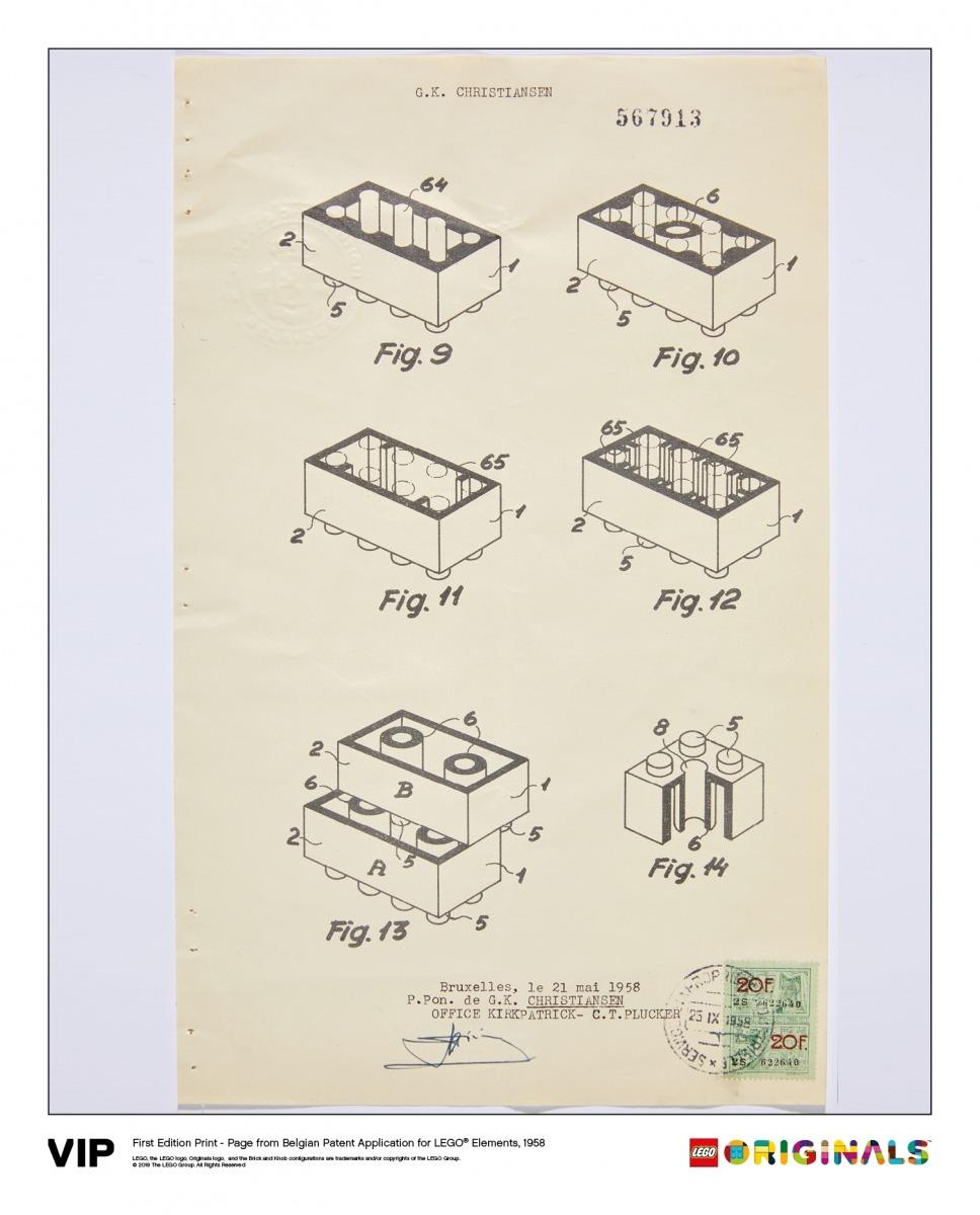 belgian patent lego elements 1963 5005996