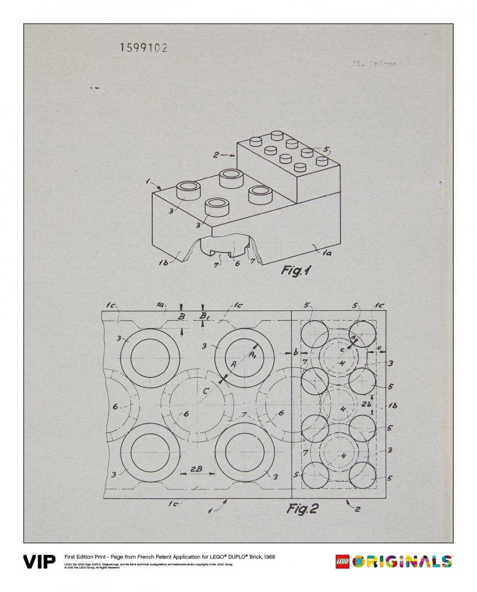 french patent lego duplo brick 1968 5005998
