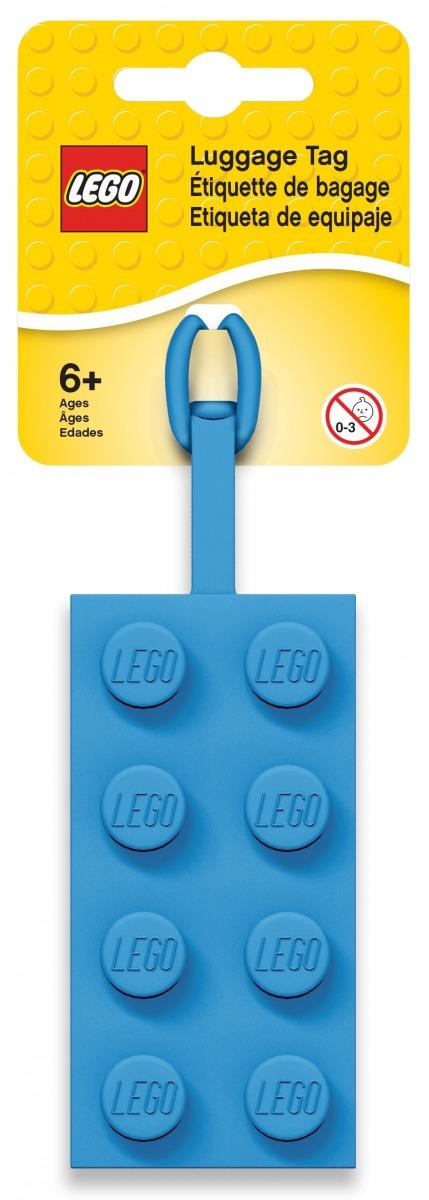 lego 2x4 blauw bagagelabel 5005543