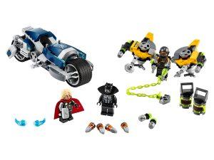 lego avengers speeder bike aanval 76142