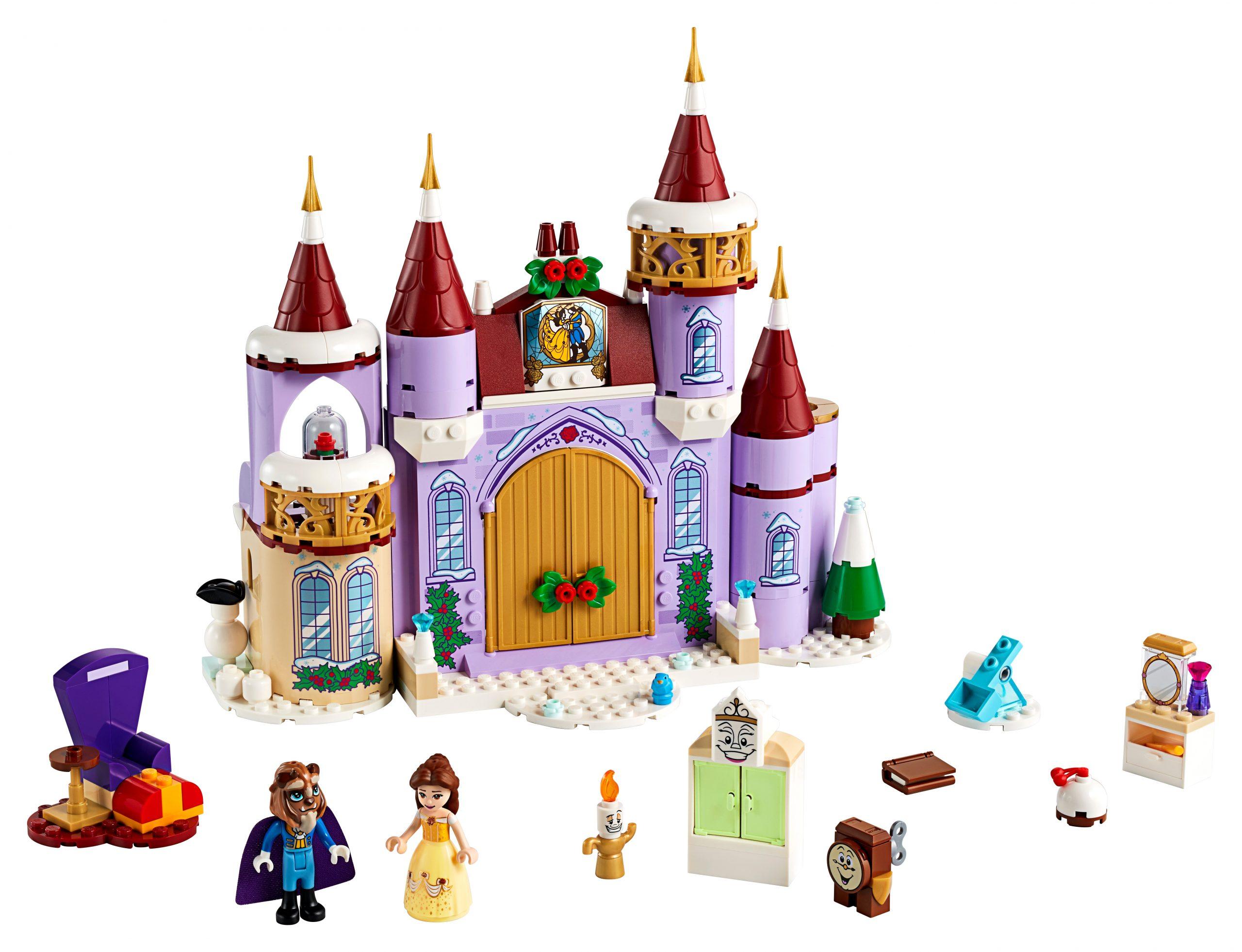 lego belles kasteel winterfeest 43180 scaled