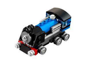 lego blauwe trein 31054