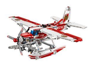 lego brandblus vliegtuig 42040