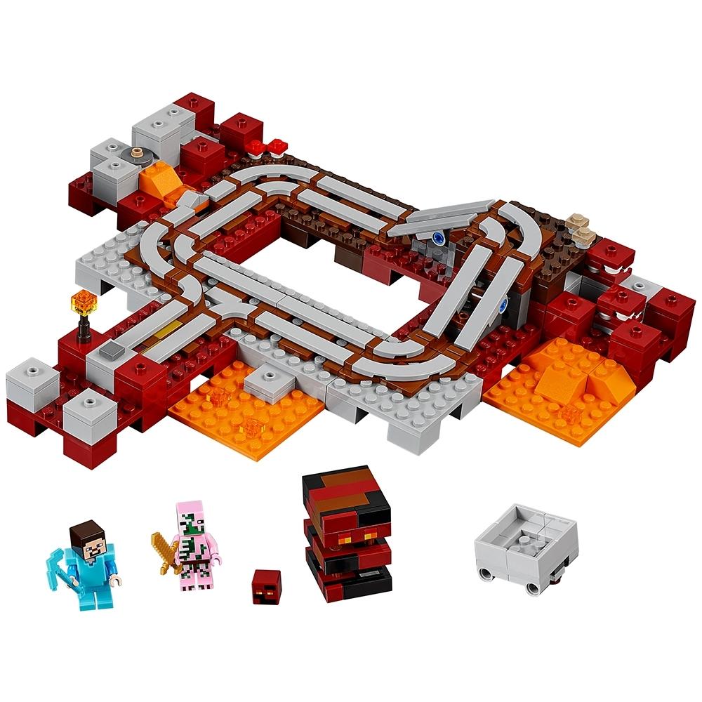 lego de nether spoorweg 21130