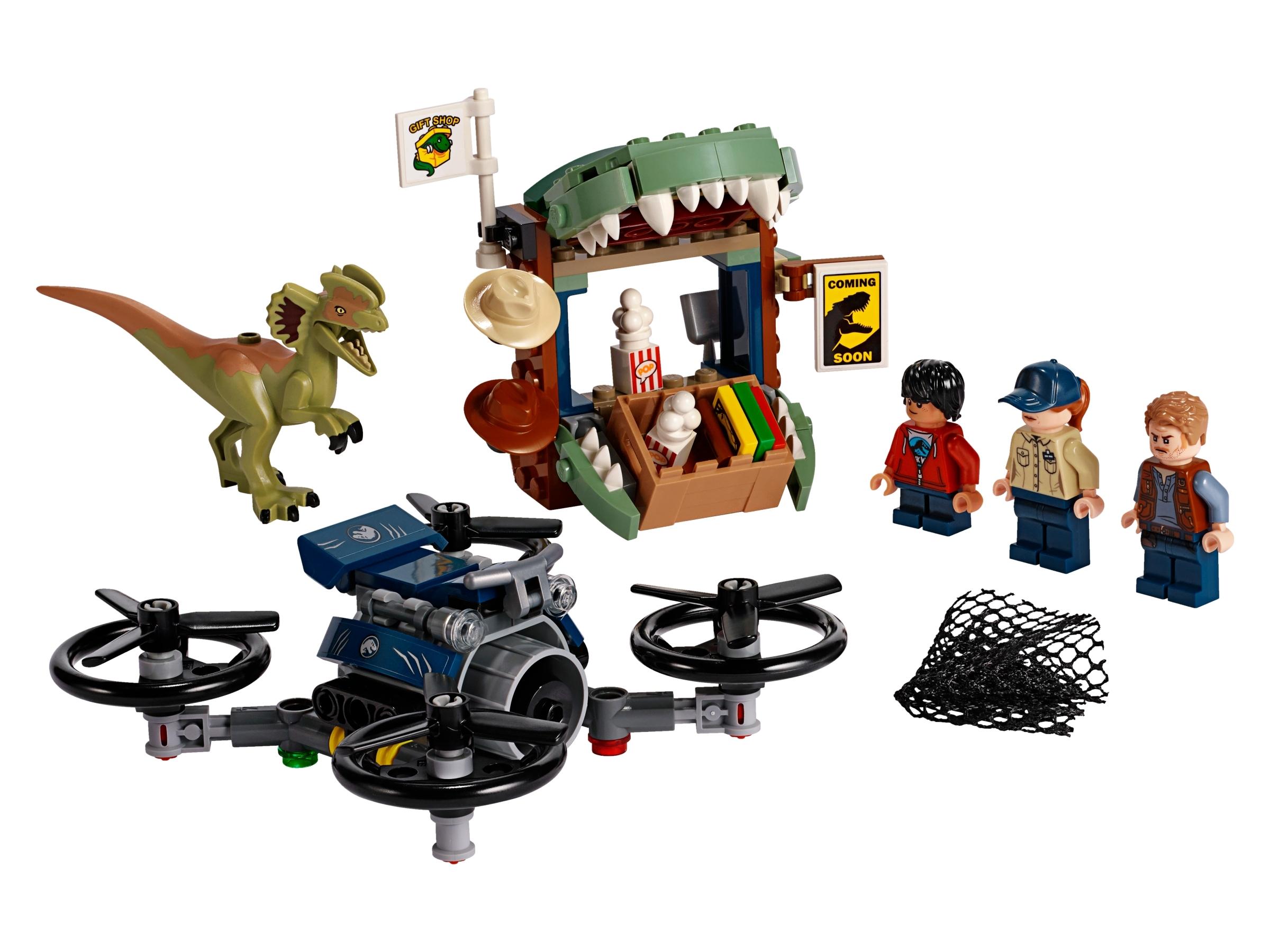 lego dilophosaurus ontsnapt 75934
