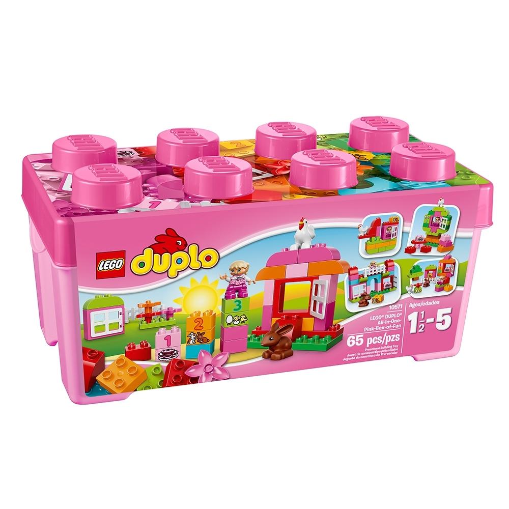 lego duplo alles in een roze doos 10571