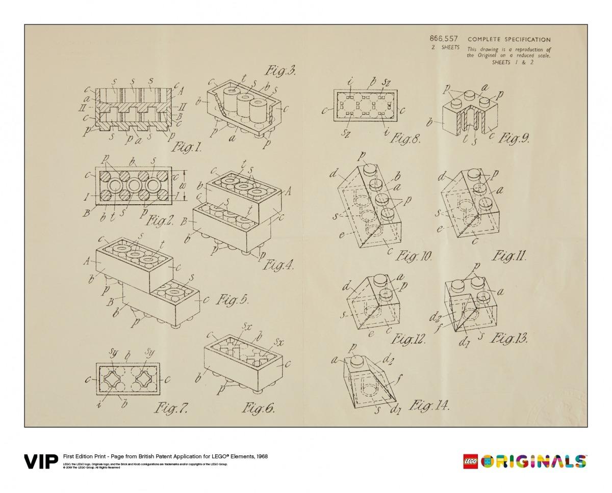 lego eerste druk van het britse patent 1968 5006004