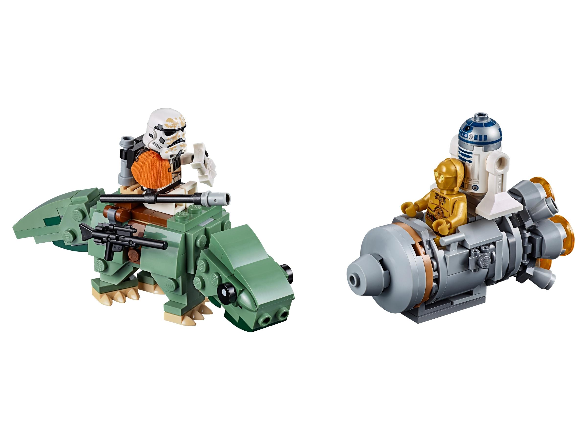 lego escape pod vs dewback microfighters 75228