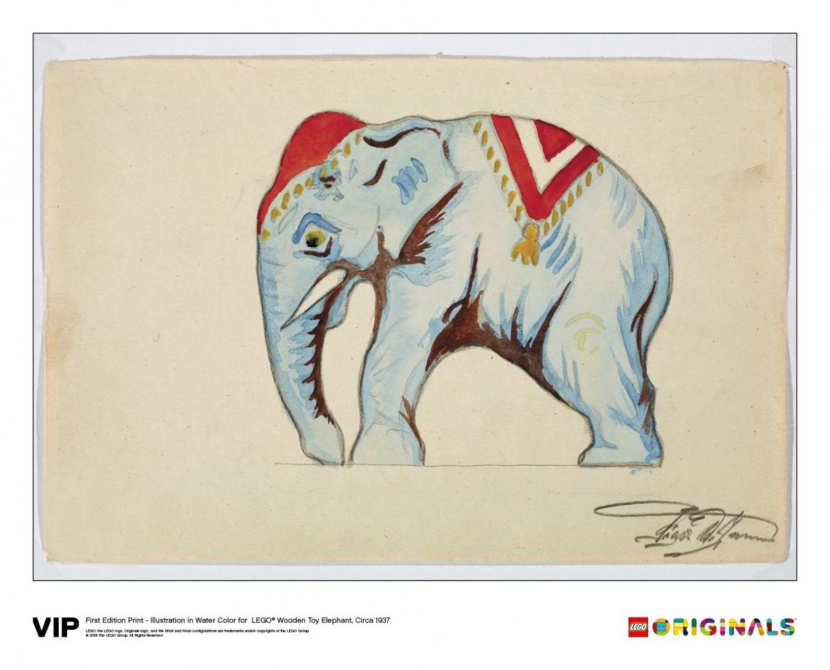 lego illustration wooden toy elephant 5005997