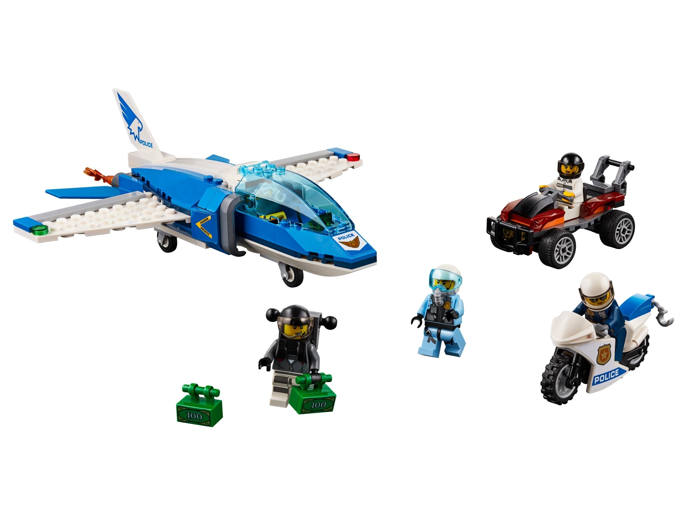 lego luchtpolitie parachute arrestatie 60208