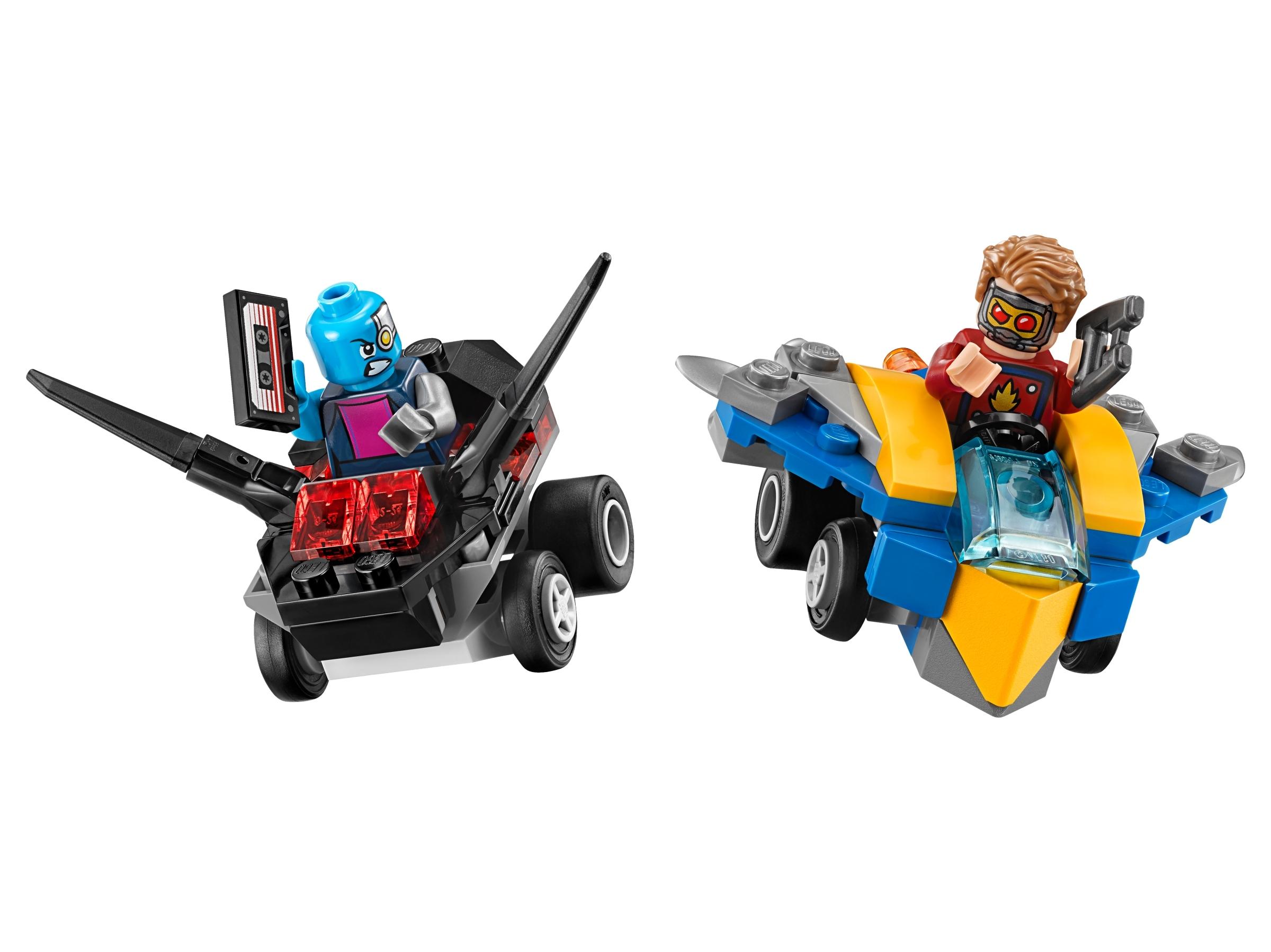 lego mighty micros star lord vs nebula 76090
