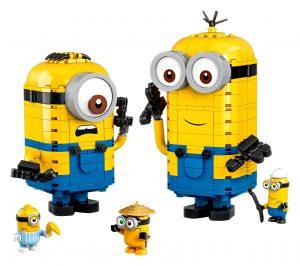 lego minions figuren van stenen en hun schuilplaats 75551
