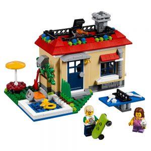 lego modulaire vakantie aan het zwembad 31067