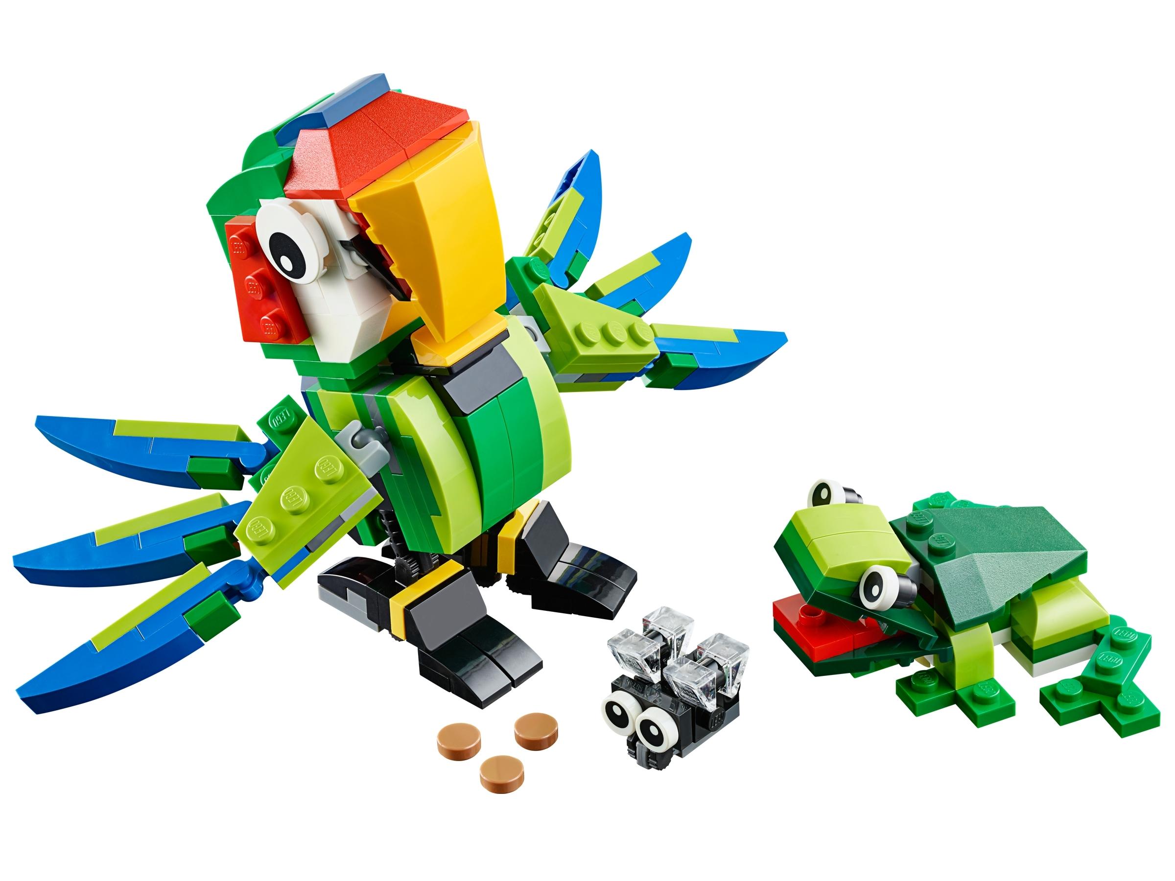 lego regenwoud dieren 31031