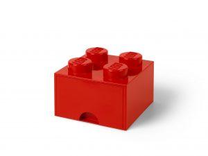 lego rode opbergsteen met 4 noppen 5006129