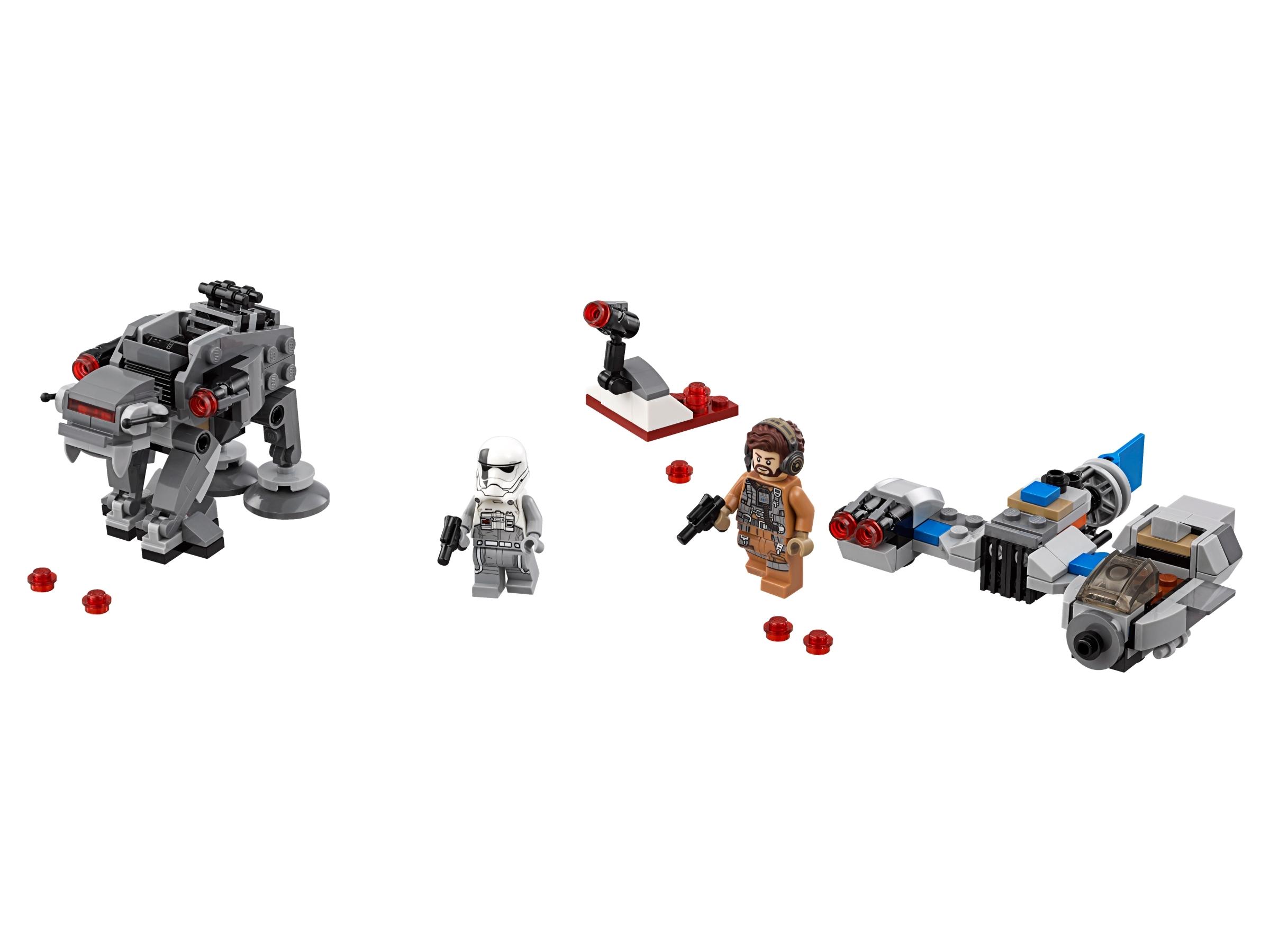 lego ski speeder vs first order walker microfighters 75195