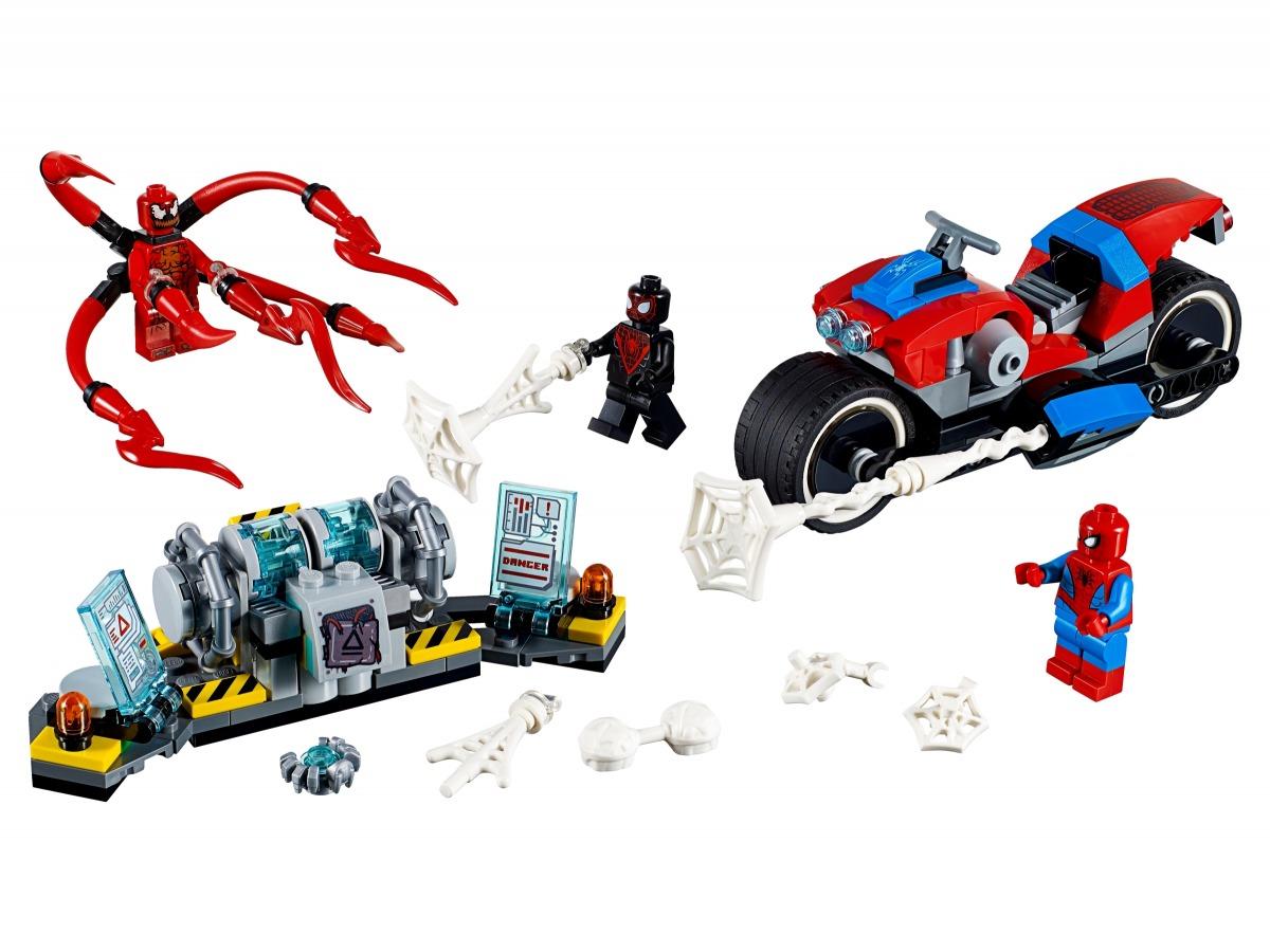 lego spider man bike reddingsactie 76113