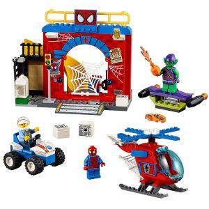 lego spider man schuilplaats 10687