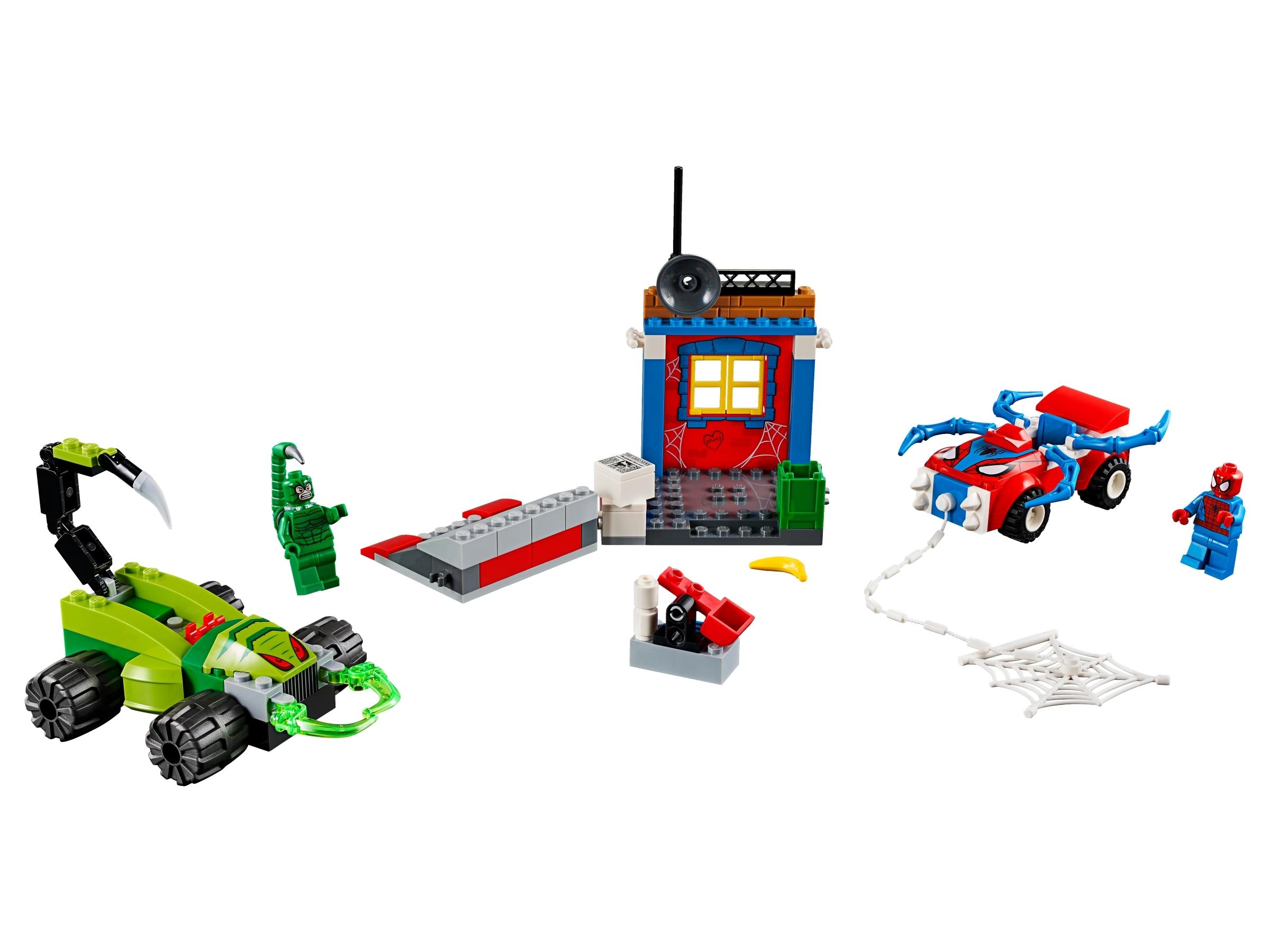 lego spider man vs scorpion straatduel 10754