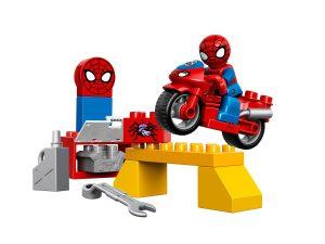 lego spider man webmotor werkplaats 10607