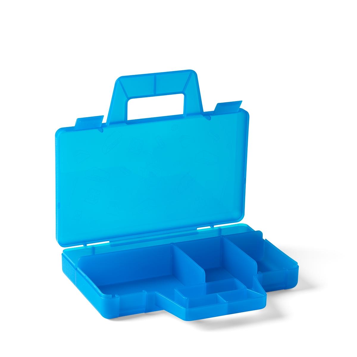 lego transparante blauwe sorteerdoos 5005890