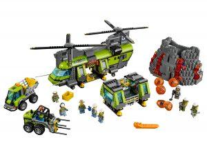 lego vulkaan zware vrachthelikopter 60125
