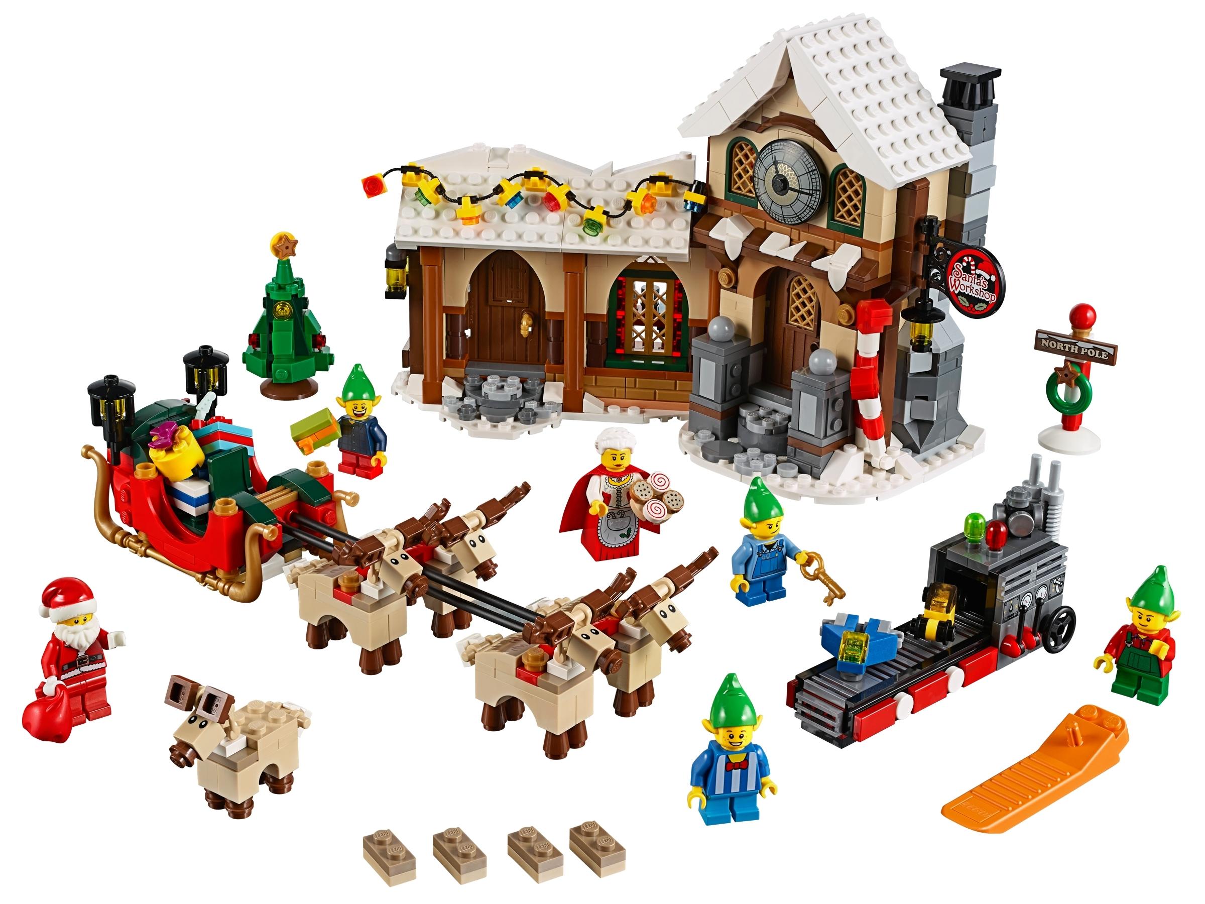lego werkplaats van de kerstman 10245