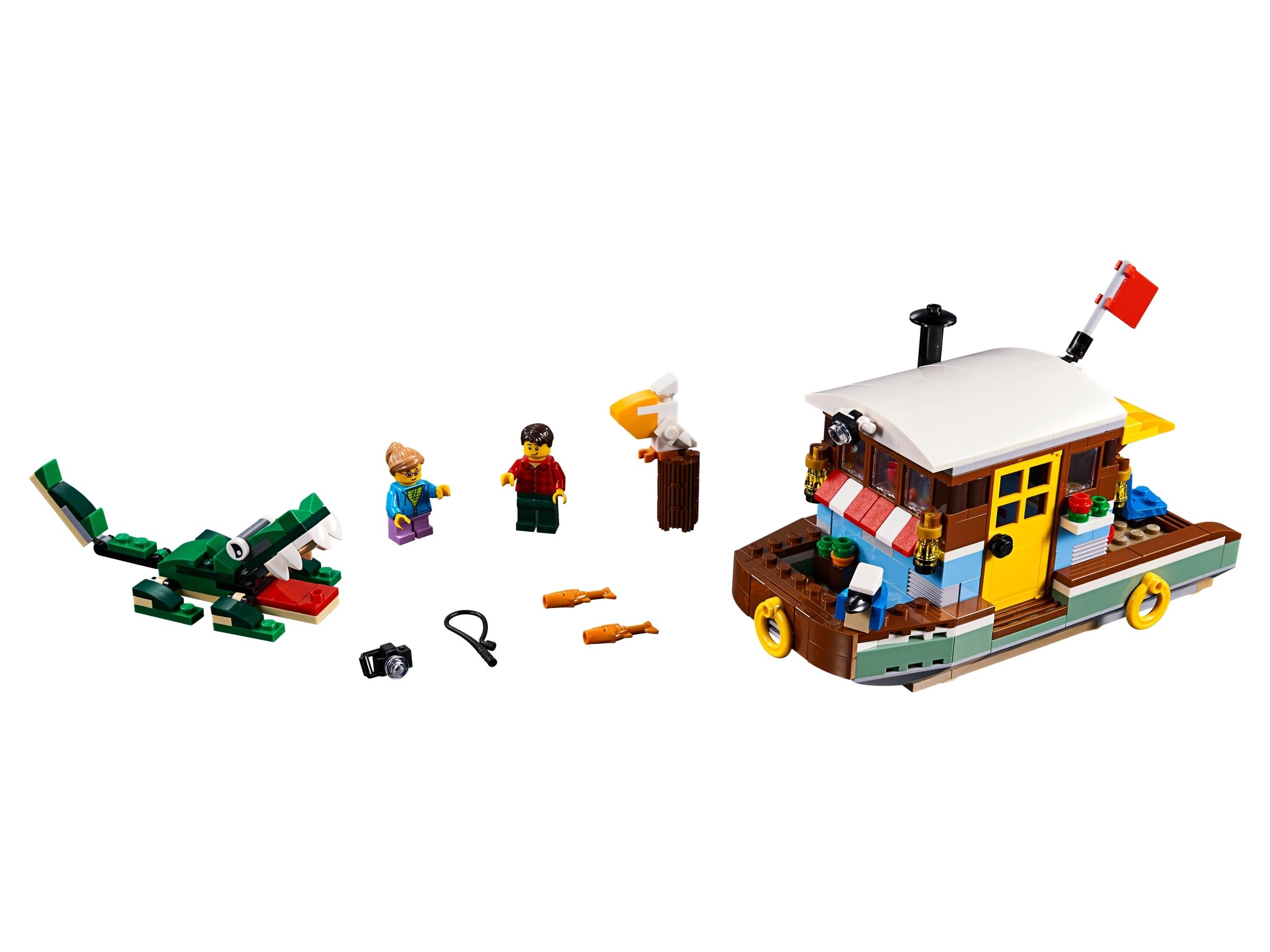 lego woonboot aan de rivier 31093