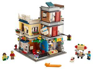 lego woonhuis dierenwinkel cafe 31097