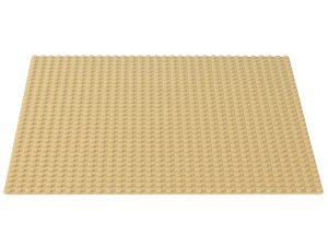 lego zandkleurige bouwplaat 10699
