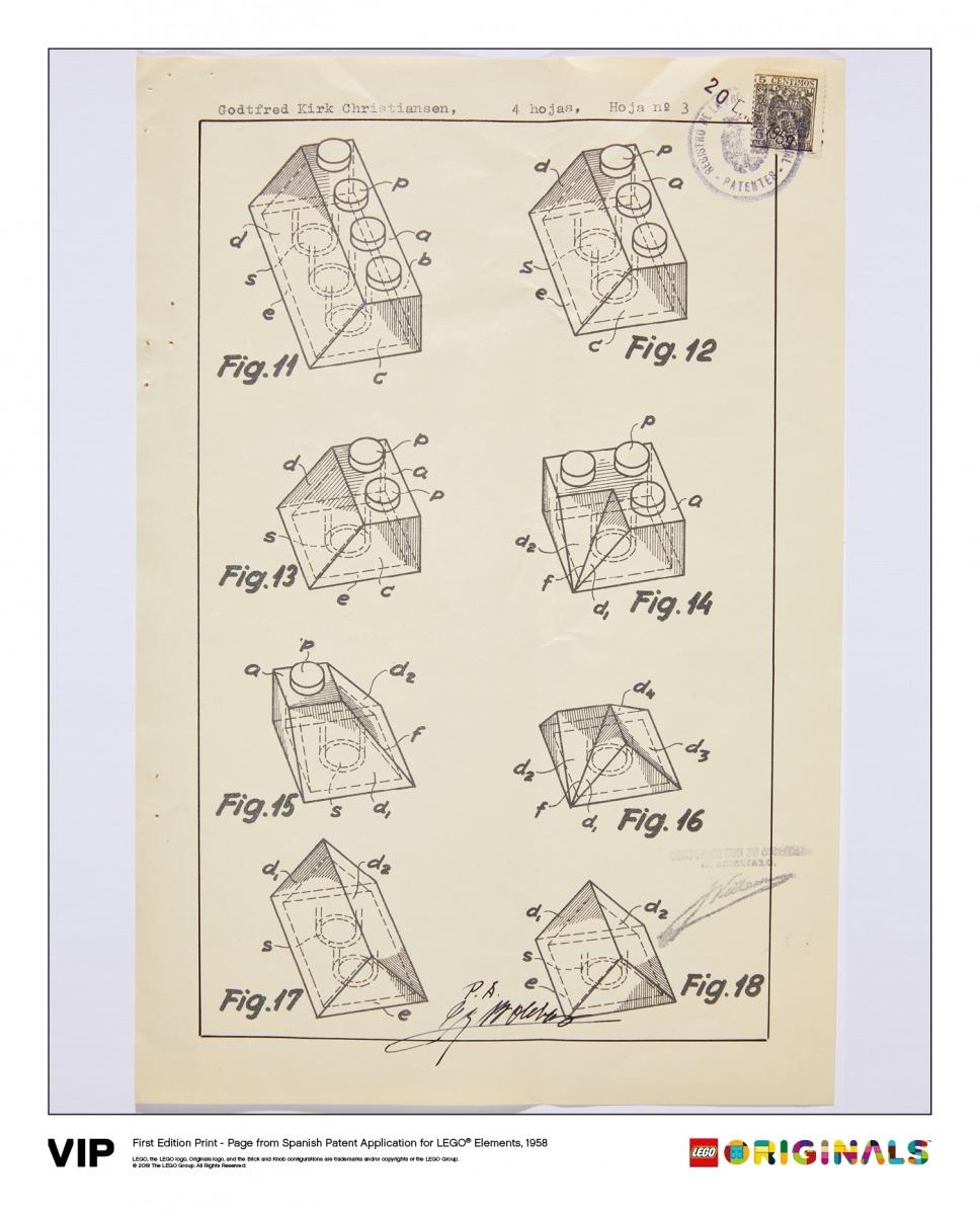 spanish patent lego elements 1958 5006001