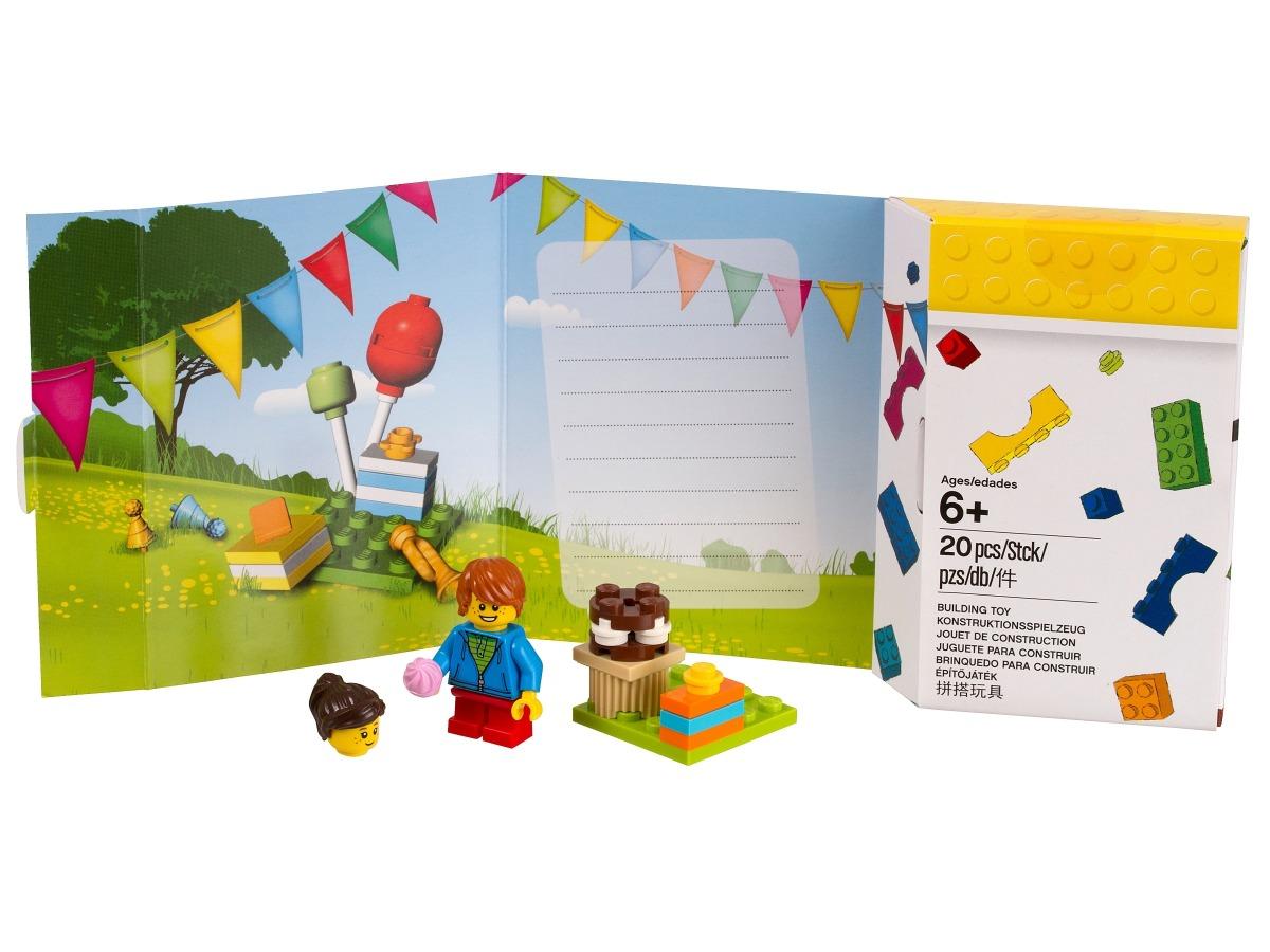 verjaardagskaart in lego stijl 5004931