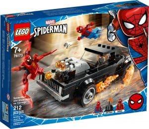 lego 76173 spider man en ghostrider vs carnage