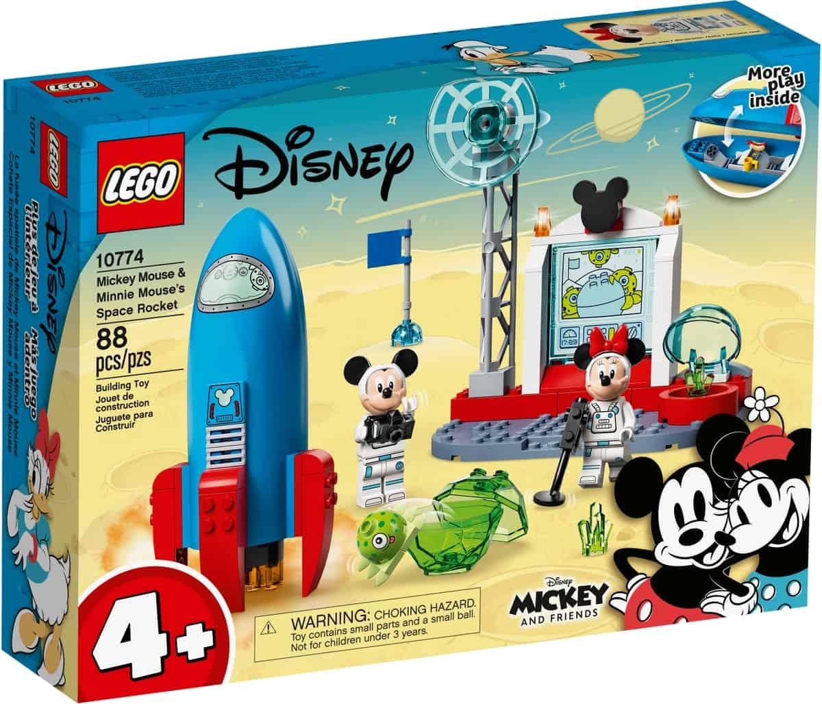 lego 10774 mickey mouse minnie mouse ruimteraket