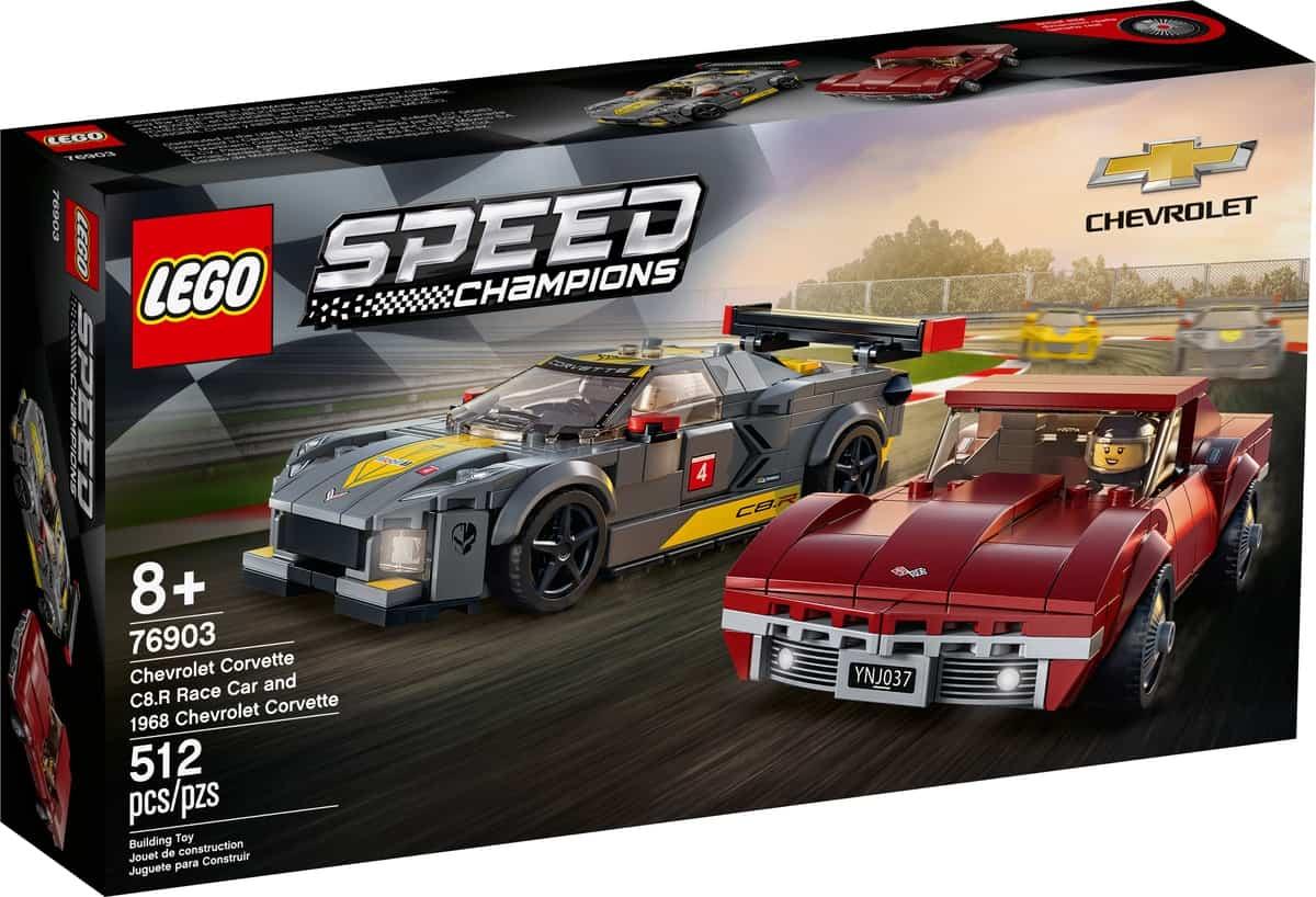 lego 76903 chevrolet corvette c8 r racewagen en 1968 chevrolet corvette