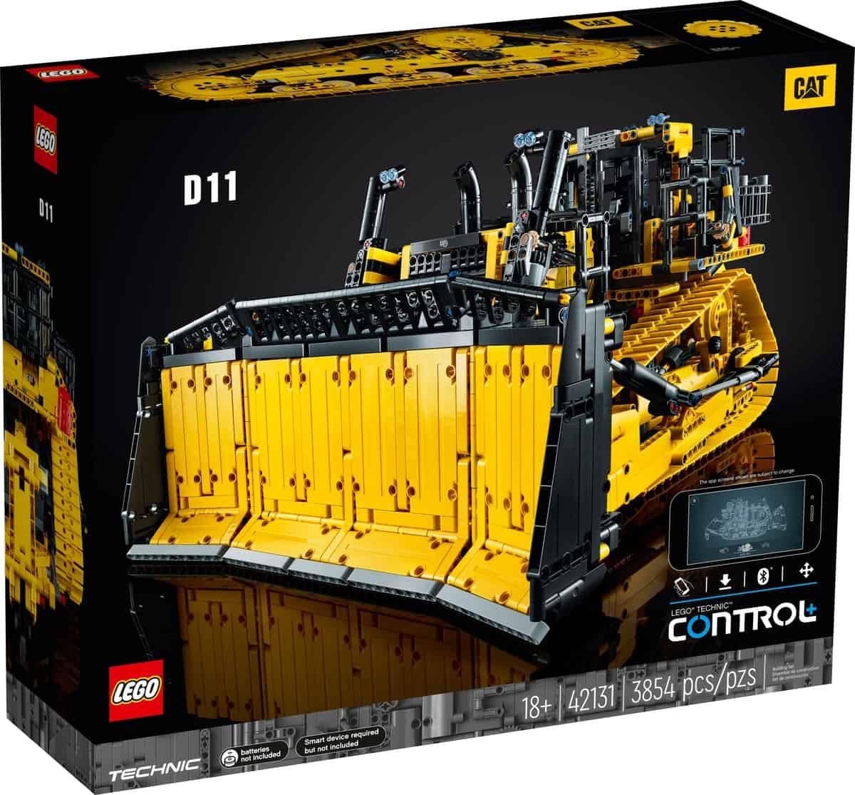 lego 42131 cat d11 bulldozer met app besturing