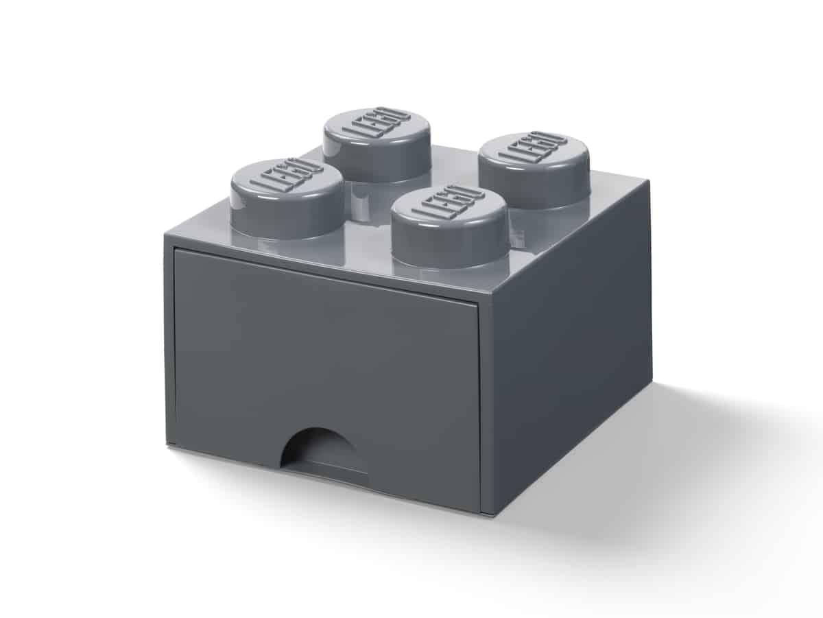 lego 5006328 opbergsteen met 4 noppen en 1 lade donkergrijs
