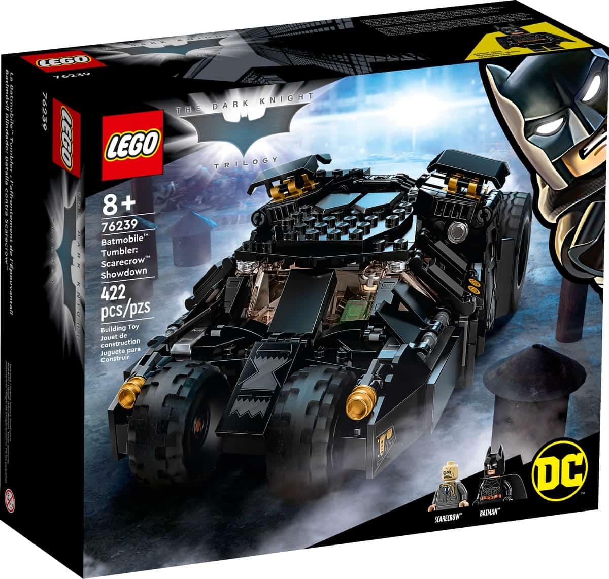 lego 76239 dc batman batmobile tumbler scarecrow krachtmeting